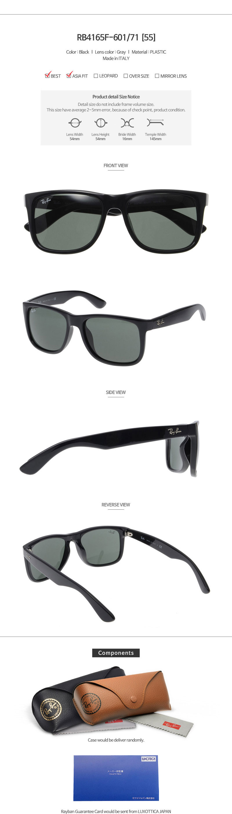 ade7d0e14f Ray Ban Warranty Period